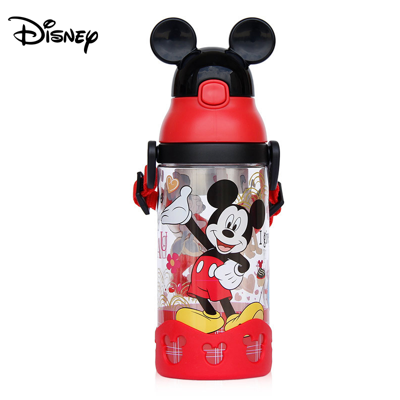 Disney Cup Children's Cup Sippy Cup Baby With Straw Water Cup Convenient Cartoon Summer Kettle Leakproof