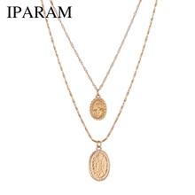 IPARAM Trendy fashion Religious Style Gold Chain Necklace Vi