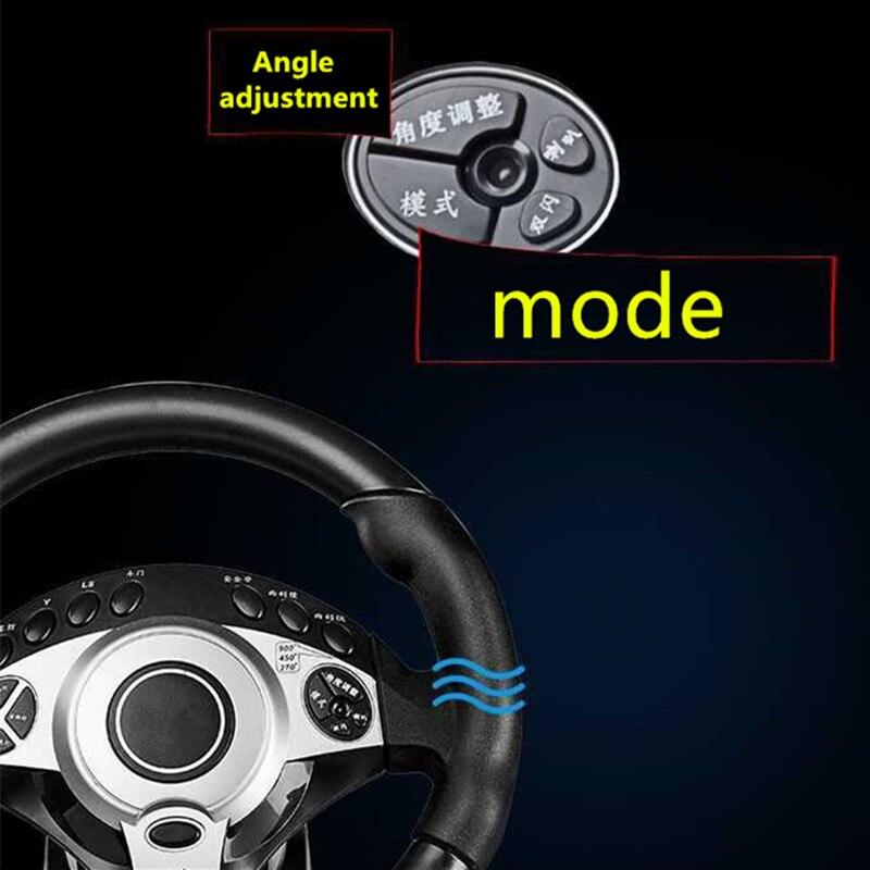 900 degrés jeux de course volant ordinateur apprentissage voiture simulation machine de conduite accélérateur frein levier de vitesse ensemble complet - 4