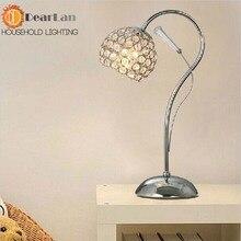 Crystal LED Настольные Лампы Современная Фойе Стекло Настольная Лампа Спальня Свет Бесплатная Доставка