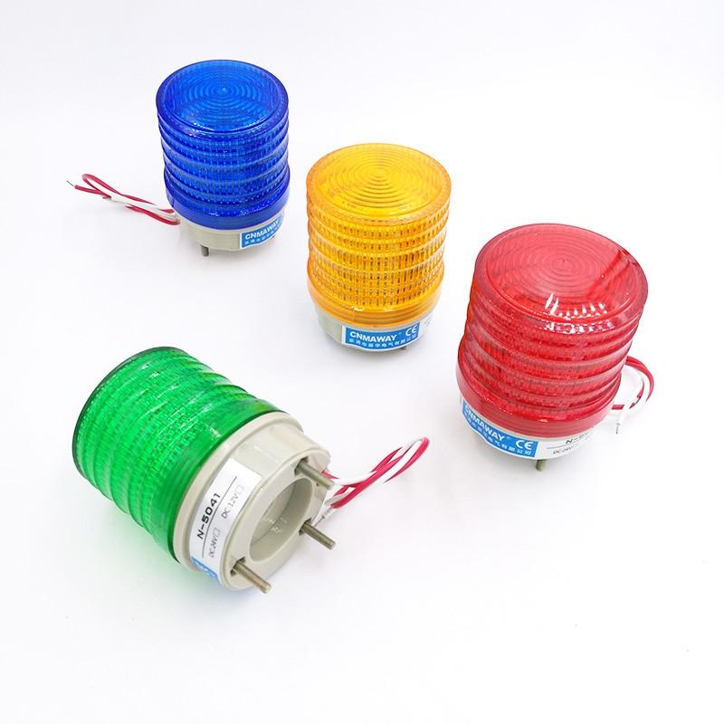 N-5041 Indicator light Strobe Signal Warning light Lamp small Flashing Light Security Alarm 12V 24V 220V LED цена