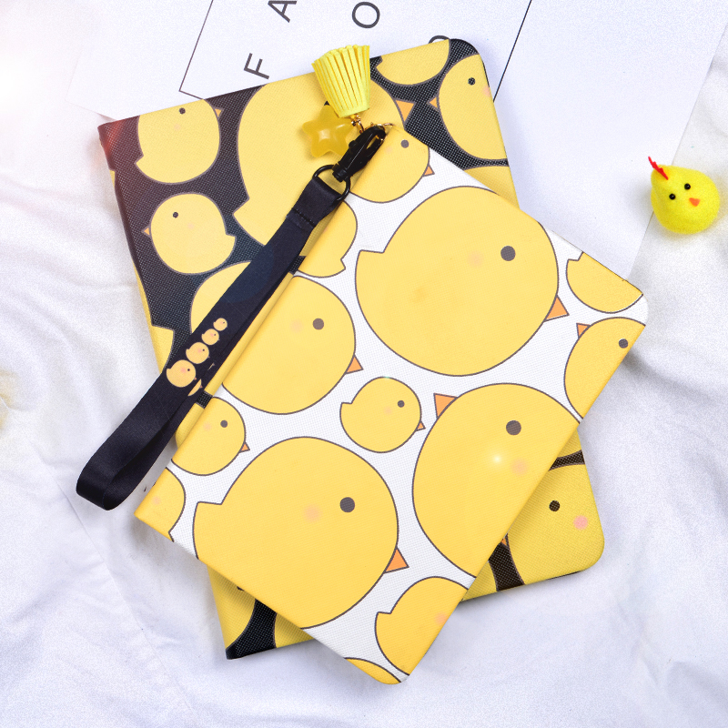 FOR IPAD6 Cartoon Cute Chicken Leather Case smart cover For Apple iPad air2 air 2 9.7 Tablet case protective shell bag GD cartoon cute chicken leather magnet