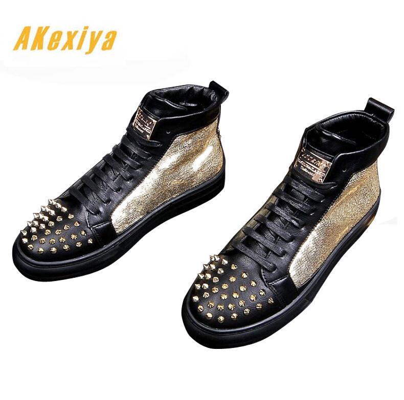 De Rivet Homme Mélangées Répandue Chaussures Mocassins Casual Hip Appartements Hop Couleurs Éclat Gardiste Hommes Novio Zapatos 2 Du 1 Designer 8wFaqdP