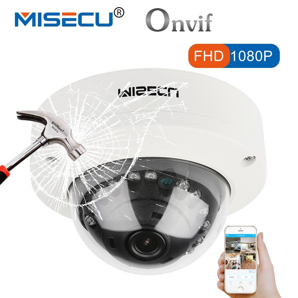 MISECU 2.8mm Anti-Vandalisme H265/H264 48 v POE Caméra 1080 p 960 p 720 p Onvif P2P Motion détecter RTSP email alerte Métal POE caméra dôme