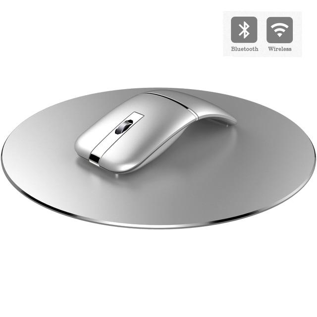 2.4G Usb Draadloze + Bluetooth Folding Muis Oplaadbare Ergonomisch Gaming Mouse Voor Macbook Lenovo Asus Dell Hp Computer Muis