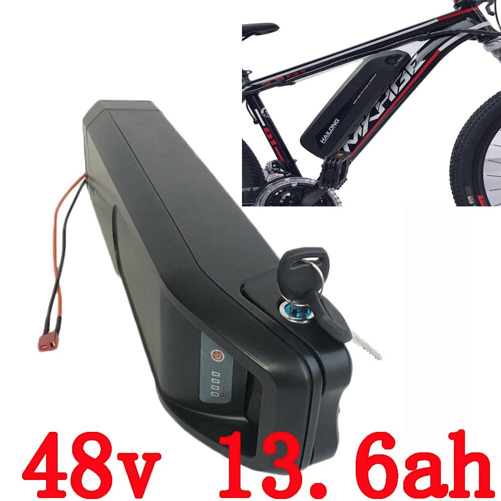 EU US no tax electric bike battery 48V 13.6AH 750w use for Panasonic 3400mah cell battery li-ion battery 48v for e- bike panasonic ncr18650b super max 3 7v 3400mah rechargeable li ion battery black green 2 pieces