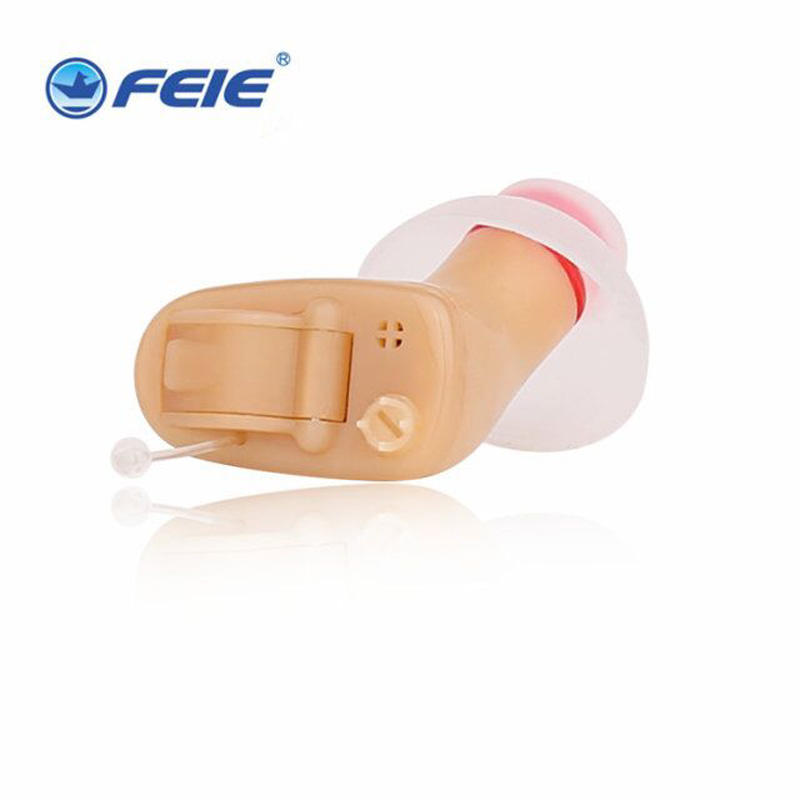 Super Mini Hearing Aids Hearing Instruments 4 Channel Earphones Deaf S-100A Noise Reduce Battery A10 Free Shipping guangzhou feie deaf rechargeable hearing aids mini behind the ear hearing aid s 109s free shipping