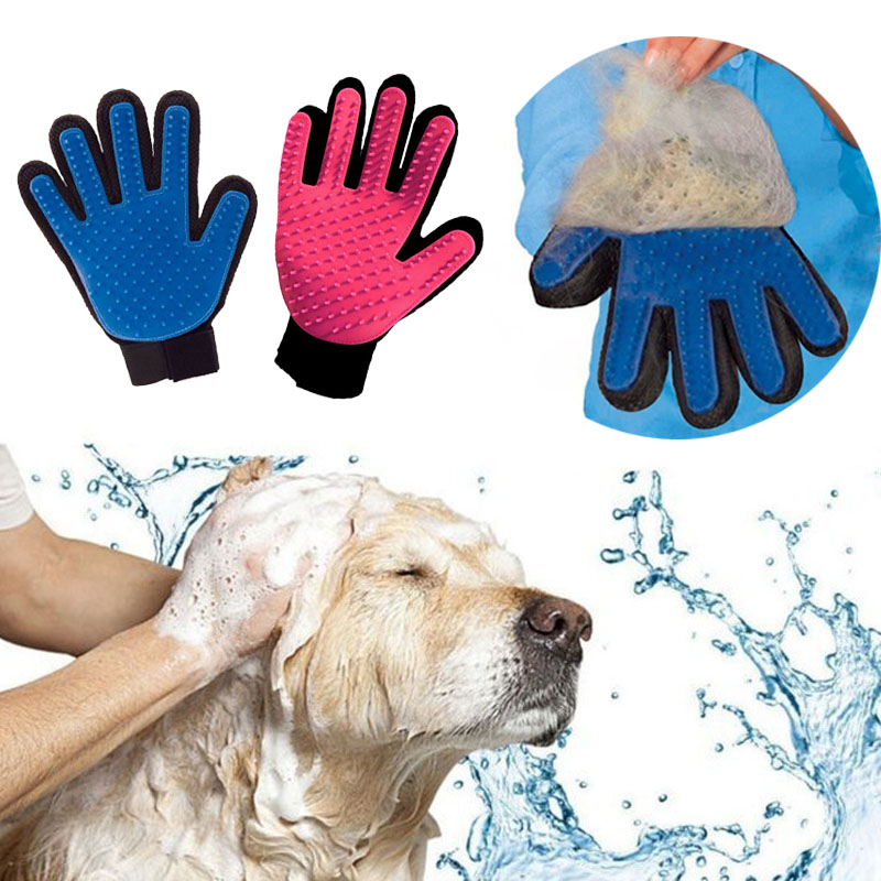 Pet Hair Glove Comb Dog And Cats Grooming Pet Brush Glove Deshedding Gentle Efficient Dogs Glove Brush Comb For Cats