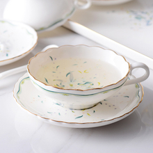 Europe Bone china Coffee Cup and saucers Wide mouth Cups British tea set flower cup Home Party  Drinkware 150 ML