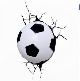 ФОТО creative Christmas Dream master comic cartoon football soccer children gift led wall lamp 3D stick bedroom light