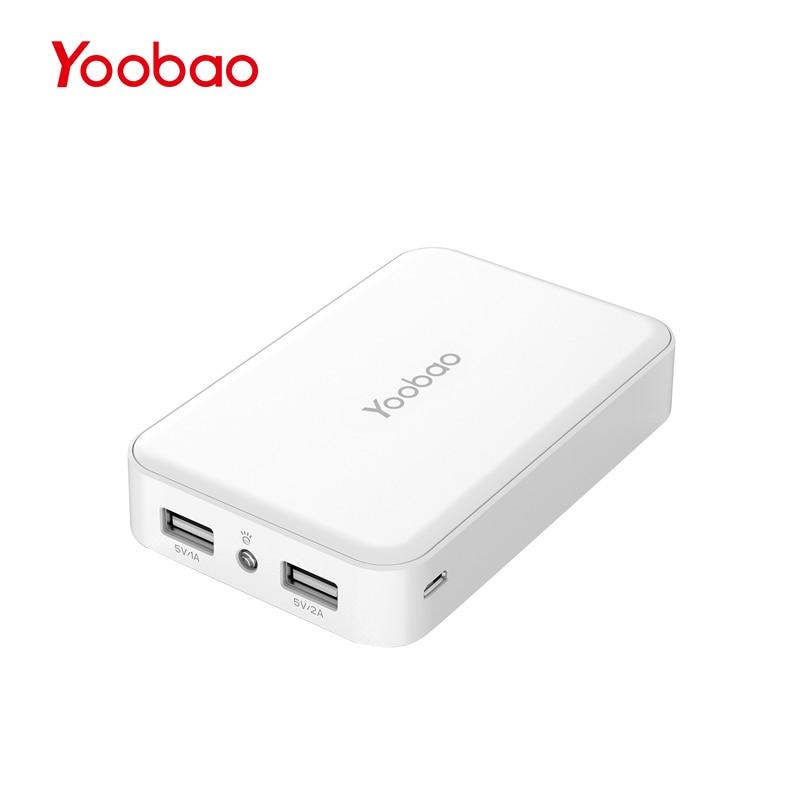 imágenes para M5 de Yoobao 10000 mAh Dual USB Power Bank Cargador Portátil de Emergencia con La Antorcha para el iphone Xiaomi Redmi Externa batería