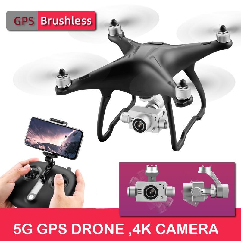 Haut de gamme pro SMRC Q3 sans brosse 5G WIFI FPV Double GPS 1080P grand Angle auto-stabilisant cardan Mode Altitude Drone quadrirotor RC