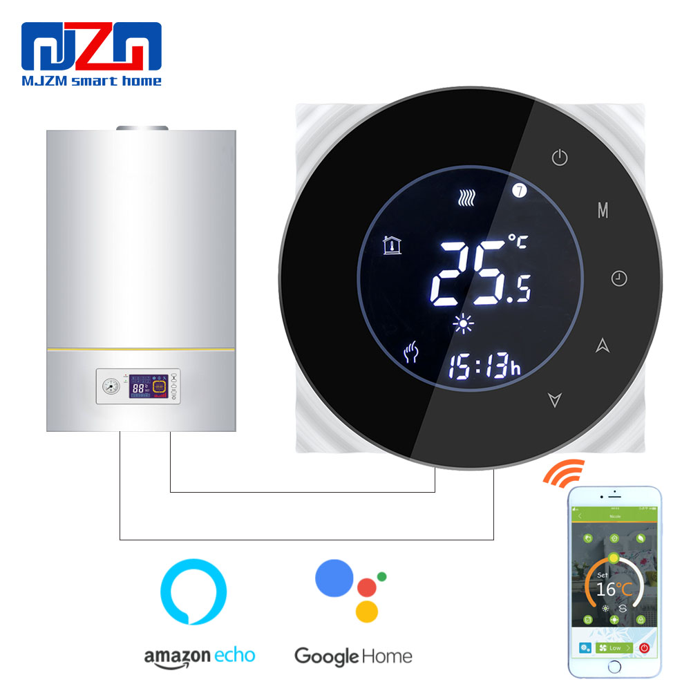MJZM GL 6000 WiFi Boiler Thermostat Digital Temperature Regulator fits Google Home Auto Control Thermostat for