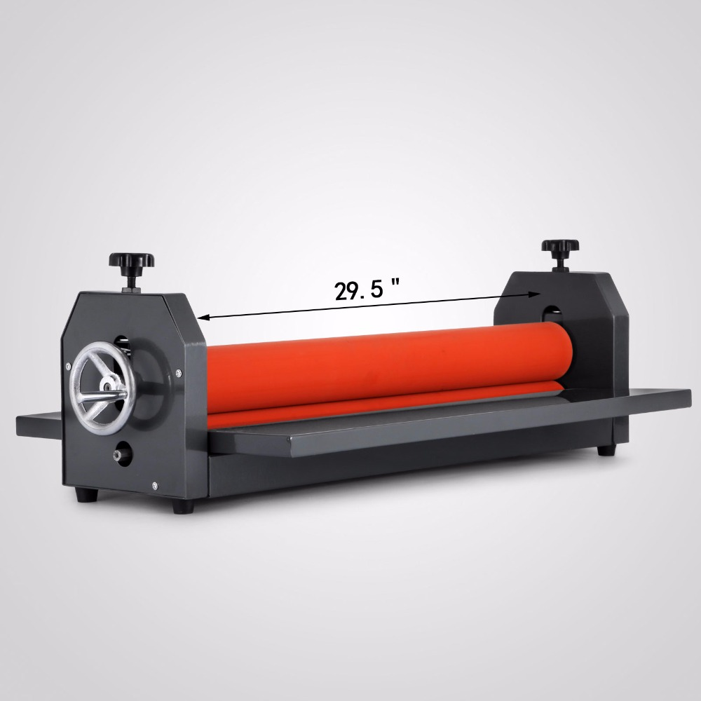 Manual Cold Roll Laminator 29.5 750MM Vinyl Photo Film Mounting Laminating Machine 6inch 150mm manual cold roll laminating machine photo vinyl protect rubber cold mounting laminator