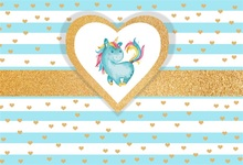 Laeacco Love Heart Pattern Unicorn Baby Birthday Party Photography Backgrounds Custom Photographic Backdrops For Photo Studio