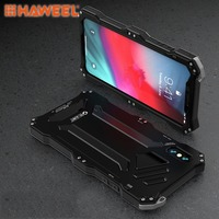 HAWEEL Phone Case for iPhone X / XS / XS Max /XR Gundam Rugged Armor Metal + TPU Protective Case Cover Shell