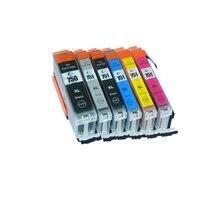 6pcs Luocai For Canon PGI750 CLI751 ink Cartridge CANON MG6370 MG7170 MG7570 IP8770 MG6770 MG6670 printer pgi 750 GY