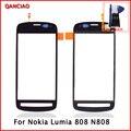 Бесплатная Доставка в Исходном Для Nokia Lumia 808 N808 Сенсорный Экран Панели Планшета Стекло Датчик Объектив Ремонт Замена