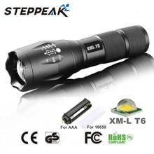 Caliente venta E17 del CREE XM-L T6 LED 3800 lúmenes al aire libre llevó la antorcha linterna LED para Camping luz de la antorcha Zoomable del foco SD001C