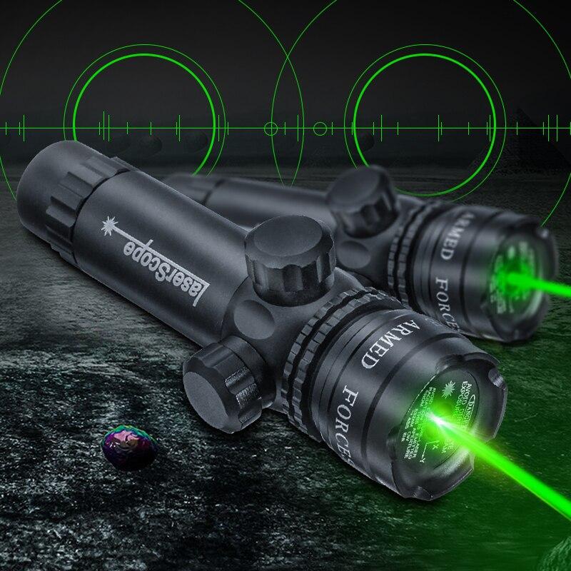 Visor Láser de punto verde de caza para Rifle Airsoft