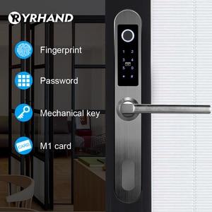 Image 4 - Electronic Fingerprint Lock Digital  Door Lock in 304 Stainless steel for Aluminum Glass Door with Euro Mortise 3585/4585