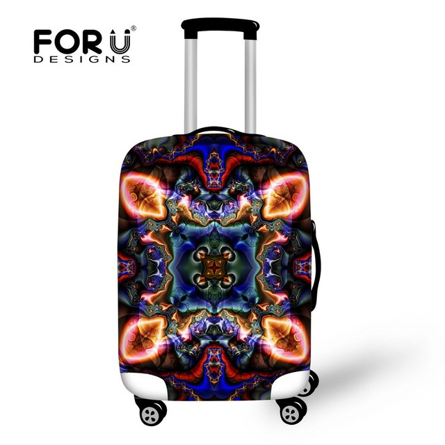 FORUDESIGNS New Luggage Protective Cover With Zipper For 18 20 22 24 26 28 30 inch Trunk Case Waterproof Travel Suitcase Cover