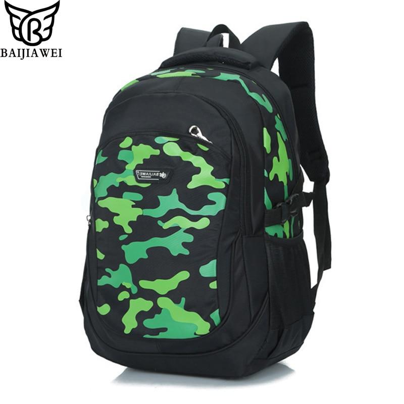 BAIJIAWEI Children Kids Backpacks Waterproof Fashion Print School Backpacks for Girls Boy Backpack School Bags Mochila Escolar