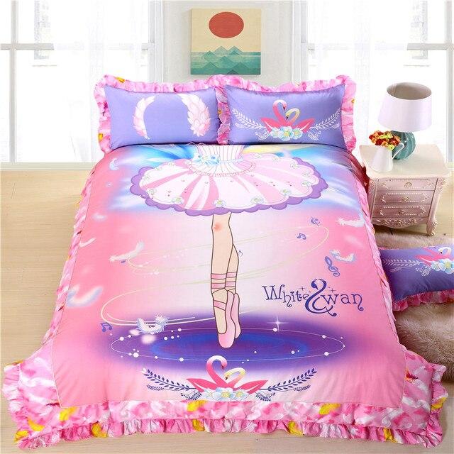 cisne blanco nios juego de cama para nias ropa de camasbanas de ballet princesa