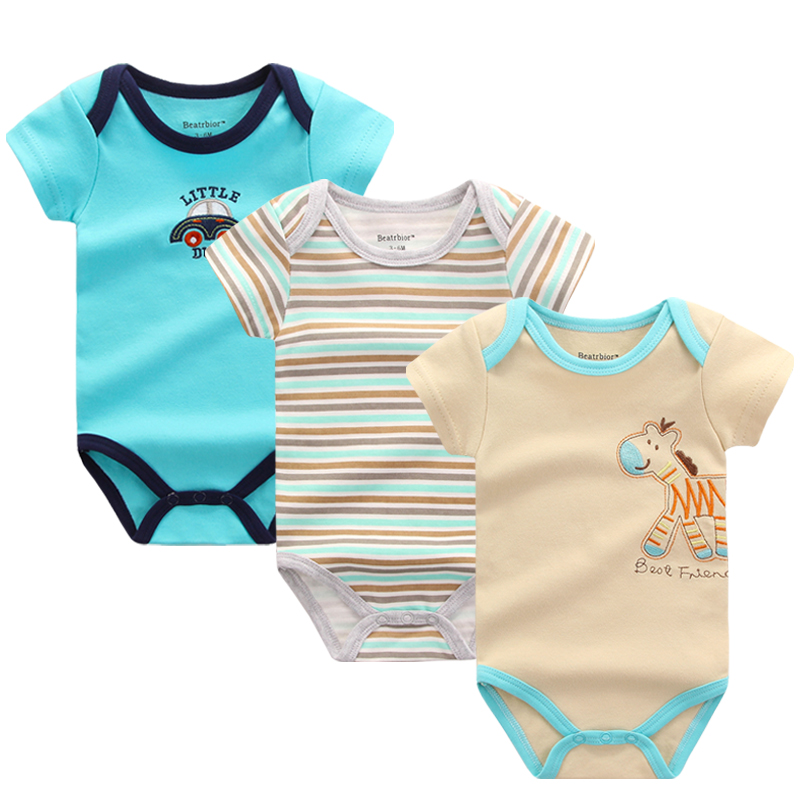 2015 BABY BODYSUITS 3PCS 100%Cotton Body for Babies Short Sleeve Clothing Carters Jumpsuit Printed Baby Boy Girl Bodysuits U-301