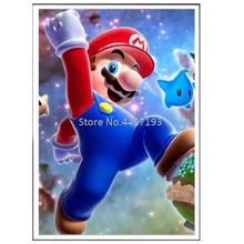 Diy Diamond Embroidery Mario Painting Square Full Drill Cartoon Series Children Bedroom