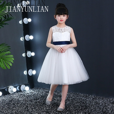 2018 Real Pretty O-Neck Tulle Coral   Flower     Girl     Dresses   Tulle Knee-length Zipper Back Vestidos De Nina   Girls   Pageant   Dresses