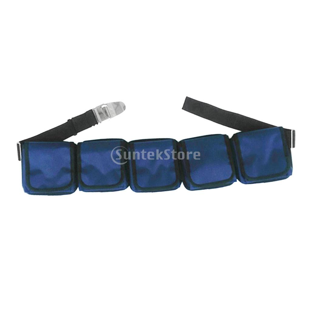 Heavy Duty Scuba Diving Pocket/ Pouch Weight Belts Dive Equipment Detachable & Adjustable belt