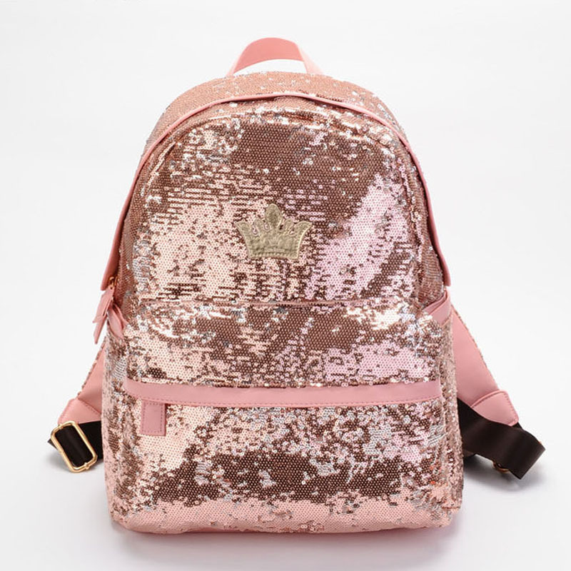 2017 Fashion Cute Girls Sequins Women Backpacks Paillette Leisure School Bags Backpacks For Teenage Girls Top