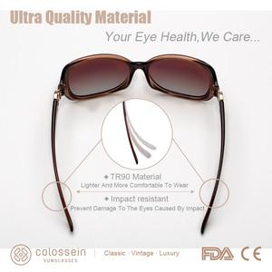 Image 5 - COLOSSEIN MSTAR Sunglasses Women Polarized luxury Round Metal Hinge Sun Glasses Gradual Light Soft Classic Eyewear UV400