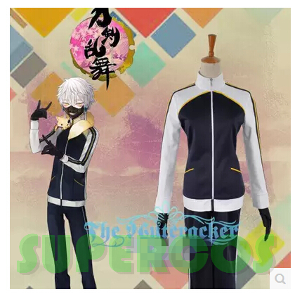 Free shipping! Touken Ranbu Online Nakigitsune Sports suit Cosplay Costume ,Perfect customize for you!