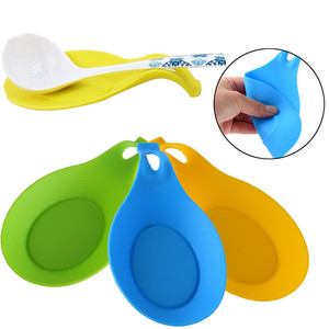 Silicone Spoon Insulation Mat Heat Resistant Placemat Spoon Pad Kitchen Tool Convenient Tableware