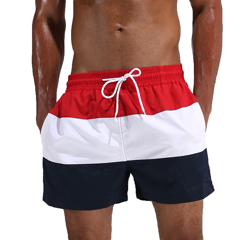 JERECY Mens Swim Trunks Happiness is Believing Unicorns Quick Dry Board Shorts with Drawstring and Pockets