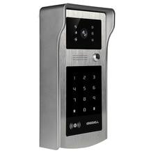 1 шт. ИК RFID код клавиатуры камера для 4 провода кабель видео телефон двери дверной звонок видеодомофон система входа
