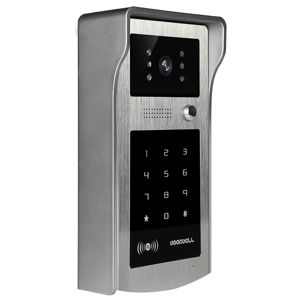 1pcs IR RFID Code Keypad Camera For 4 Wire Cable Video Door Phone Doorbell Video Intercom Entry System