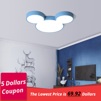 DX Modern Led Ceiling Lights Creative Color Luminaire Kids Children Bedroom Mickey Fixture Remote Control Lamp Dimmable Lustre