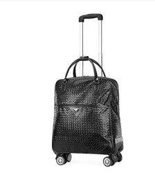 Marca 22 Pollici Donne di Viaggio Sacchetto Dei Bagagli del Carrello Su Ruote Da Viaggio Borsa Da Viaggio Valigia di Rotolamento Bagaglio Da Viaggio Valigia Trolley