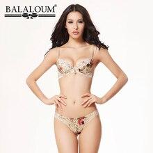 BALALOUM Conjunto de sujetador y bragas de realce para mujer, ropa interior, lencería Sexy, sin costuras