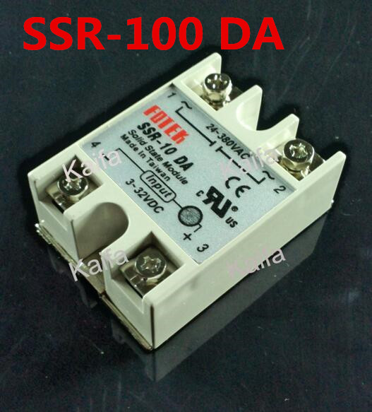 1 Piece Solid State Relay SSR DC Control AC SSR-100 DA 3-32V DC To 24-380V AC High Quality white shell 220v 3 32v single phase solid state relay ssr dc control ac fotek 80a ssr 80da