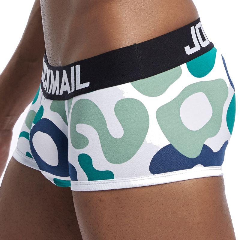 JOCKMAIL Underwear Men Boxers Camouflage Cotton Sexy Man Panties Comfortable Breathable Underpants Male Boxer Soft Undershorts
