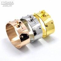 FYSARA Marque Rock Bijoux 21mm/12mm Bras Grand Large Bracelet et bracelet Pour Hommes Femmes Amour Bijoux Manchette H Bracelet Manchette