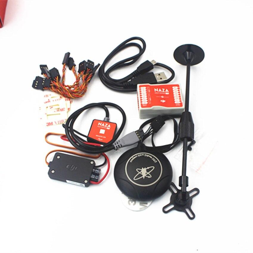 Contrôleur de commande de vol DJI Naza M Lite Version multi-flyer avec Module d'alimentation PMU et LED et câbles et GPS M8N et support de support