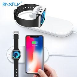 RAXFLY Wireless Charger For iPhone X 8 XR XS Max For Apple i Watch 2 3 10W Qi Wireless Charge For Samsung S7 S8 S9 Plus Note 8 9