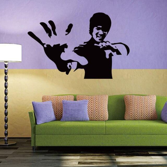 Bruce Lee kung fu vinyl wall decal home decor living room bedroom ...