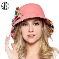 Pink Blue Both Sides Wear UV Sun And Summer Hat For Women With A Cloth Hats