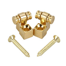 2pcs Golden Roller String Retainer Trees for Electric Guitar Parts Accessories